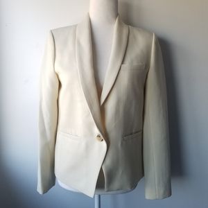 J Crew Single Breasted Button Front Wool Blazer